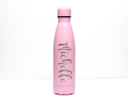 Matt Pink 500ml Double Wall Thermos Bottle Double wall, vacuum insulated, stainless steel 500ml water bottle.
