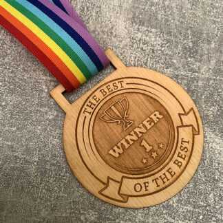 Personalised Wooden Medal Eco-Friendly
